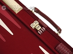 picture of 18-inch Deluxe Backgammon Set - Maroon (7 of 11)
