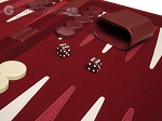 picture of 18-inch Deluxe Backgammon Set - Maroon (8 of 11)