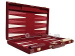picture of 18-inch Deluxe Backgammon Set - Maroon (10 of 11)
