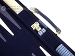 picture of 15-inch Deluxe Backgammon Set - Blue (7 of 11)