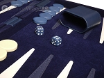 picture of 15-inch Deluxe Backgammon Set - Blue (8 of 11)