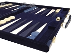 picture of 18-inch Deluxe Backgammon Set - Blue (6 of 11)