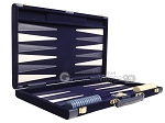 picture of 18-inch Deluxe Backgammon Set - Blue (10 of 11)