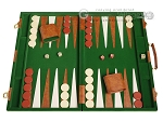 picture of 18-inch Deluxe Backgammon Set - Green (1 of 11)