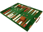 picture of 18-inch Deluxe Backgammon Set - Green (3 of 11)