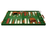 picture of 18-inch Deluxe Backgammon Set - Green (4 of 11)
