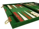 picture of 18-inch Deluxe Backgammon Set - Green (5 of 11)