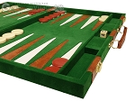 picture of 18-inch Deluxe Backgammon Set - Green (6 of 11)