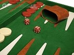 picture of 18-inch Deluxe Backgammon Set - Green (8 of 11)