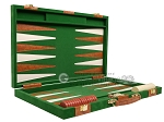 picture of 18-inch Deluxe Backgammon Set - Green (10 of 11)
