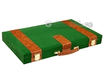 picture of 18-inch Deluxe Backgammon Set - Green (11 of 11)