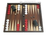 Palisander Backgammon Set with Colored Inlays - Item: 2287