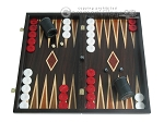 Palisander Backgammon Set with Double Inlays - Item: 2288