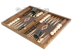picture of Zebrano-Leather Backgammon Set with Racks (3 of 12)