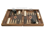 picture of Zebrano-Leather Backgammon Set with Racks (4 of 12)