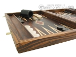 picture of Zebrano-Leather Backgammon Set with Racks (5 of 12)