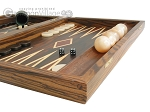 picture of Zebrano-Leather Backgammon Set with Racks (6 of 12)