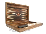 picture of Zebrano-Leather Backgammon Set with Racks (7 of 12)