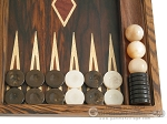 picture of Zebrano-Leather Backgammon Set with Racks (8 of 12)