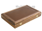 picture of Zebrano-Leather Backgammon Set with Racks (9 of 12)