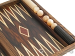 picture of Zebrano-Leather Backgammon Set with Racks (10 of 12)