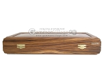 picture of Zebrano-Leather Backgammon Set with Racks (11 of 12)