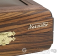 picture of Zebrano-Leather Backgammon Set with Racks (12 of 12)
