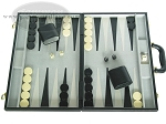 18-inch Deluxe Backgammon Set - Black - Item: 2234