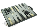 picture of 18-inch Deluxe Backgammon Set - Black (2 of 9)