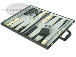 picture of 18-inch Deluxe Backgammon Set - Black (3 of 9)