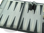 picture of 15-inch Deluxe Backgammon Set - Black (7 of 9)