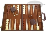 18-inch Deluxe Backgammon Set - Brown - Item: 2237