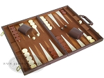 picture of 15-inch Deluxe Backgammon Set - Brown (2 of 9)