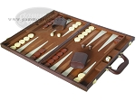 picture of 15-inch Deluxe Backgammon Set - Brown (3 of 9)