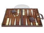 picture of 15-inch Deluxe Backgammon Set - Brown (4 of 9)