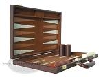picture of 15-inch Deluxe Backgammon Set - Brown (5 of 9)