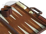picture of 18-inch Deluxe Backgammon Set - Brown (6 of 9)