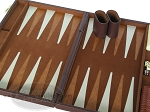 picture of 15-inch Deluxe Backgammon Set - Brown (7 of 9)