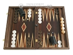 Kelempeki-Leather Backgammon Set with Racks - Item: 2290