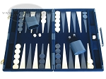 picture of 18-inch Deluxe Backgammon Set - Blue (1 of 9)