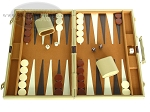 picture of 18-inch Deluxe Backgammon Set - Camel (1 of 9)