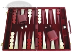 18-inch Deluxe Backgammon Set - Maroon - Item: 1678