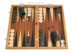 Mahogany Backgammon Set with Colored Inlays - Item: 2280