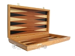 picture of Mahogany Backgammon Set with Colored Inlays (7 of 12)