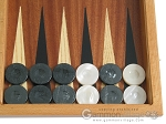 picture of Mahogany Backgammon Set with Colored Inlays (8 of 12)