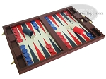 picture of Dal Negro Eco Leather Backgammon Set - Bordeaux (2 of 10)