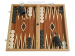 Mahogany Backgammon Set with Double Inlays - Item: 2281