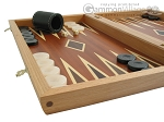 picture of Mahogany Backgammon Set with Double Inlays (5 of 12)