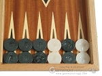 picture of Mahogany Backgammon Set with Double Inlays (8 of 12)