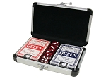 2 Decks of Cards with 5 Dice in Aluminum Case - Item: 1630